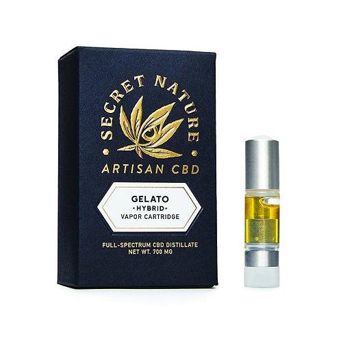 Secret Nature Artisan CBD Vape Cartridge - 700 mg, Gelato