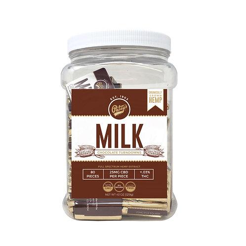 Patsys 25 mg Chocolate Turndowns, Milk Chocolate