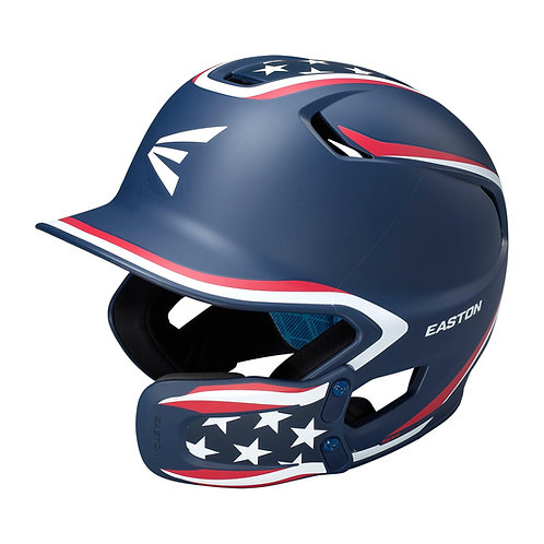Easton Z5 2.0 Matte Stars and Stripes with Universal Jaw Guard Helmet