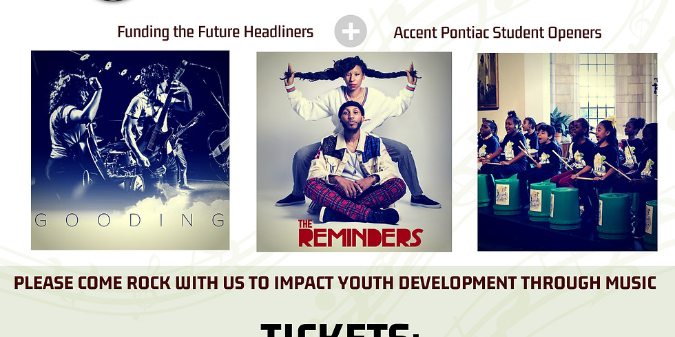 Rock 'n' Art$ featuring GOODING + The Reminders with Accent Pontiac Youth Bands