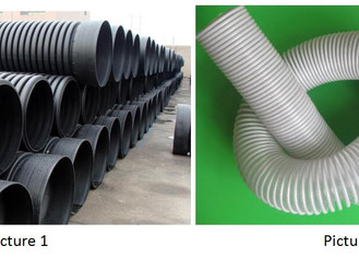 What are the requirements of the rigid PVC spiral reinforced PVC hose