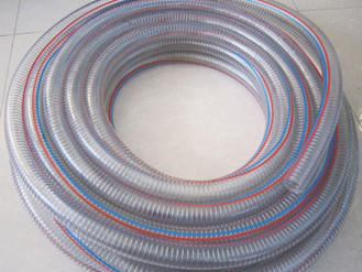 Process of PVC steel wire transparent hose