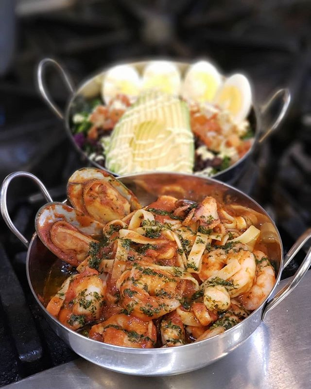 Seafood Pasta or Vegetarian Bowl?