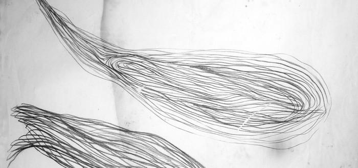 Série de desenhos gestuais