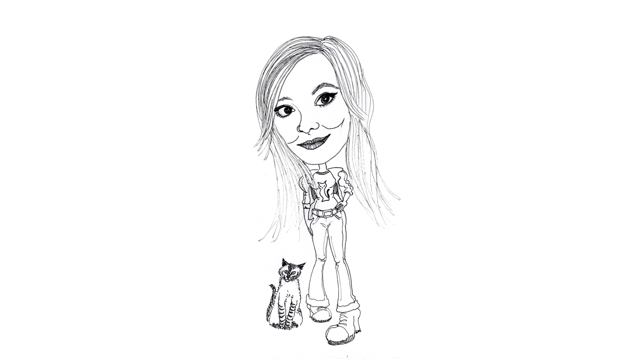 Caricatura - Fran e Sua Gata