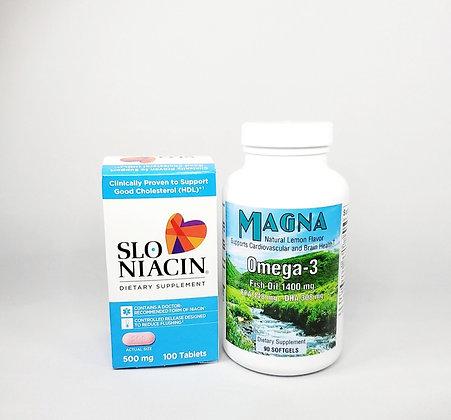 SLO-NIACIN 500 mg & MAGNA Omega-3 Bundle