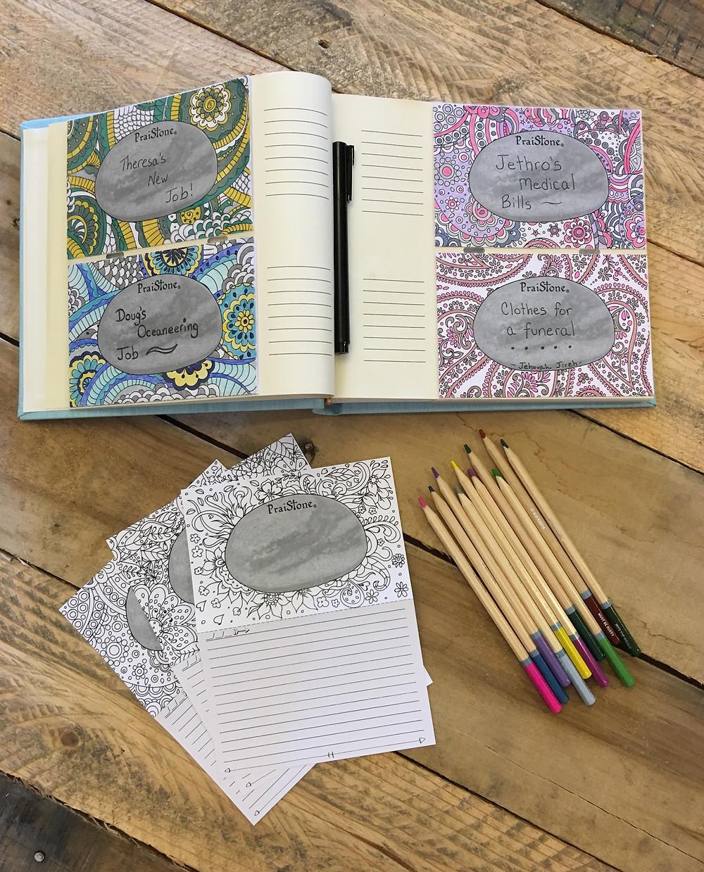 PraiStones Album and coloring cards