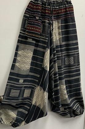 Tribal low crotch Harem pants