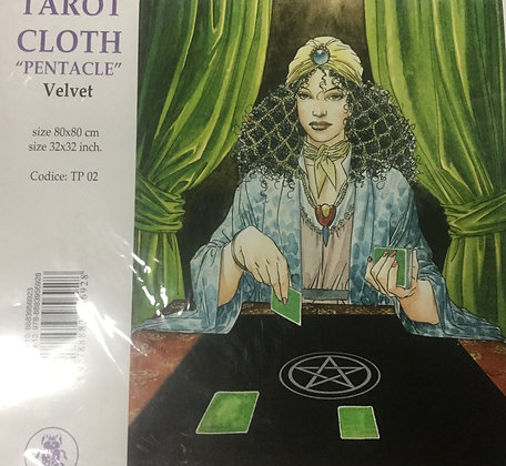 Black velvet Tarot cloth