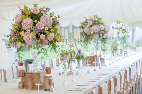Lake District, table centerpieces