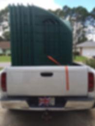 signal rock farm hay huts in pickup truck