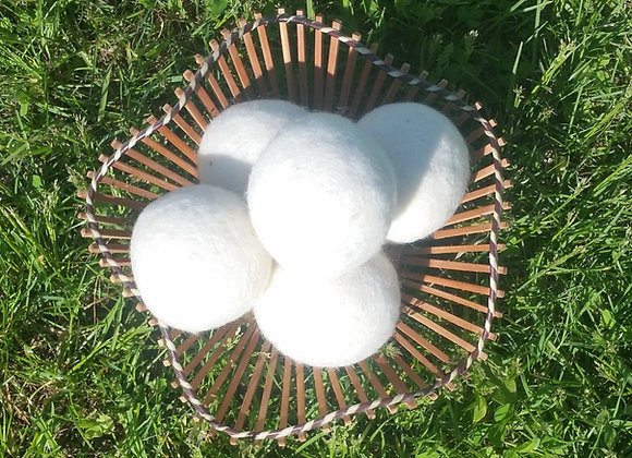 100% Wool Dryer Balls/Dog or Cat Toy