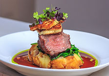 Baby Lamb Rump with grilled halloumi che
