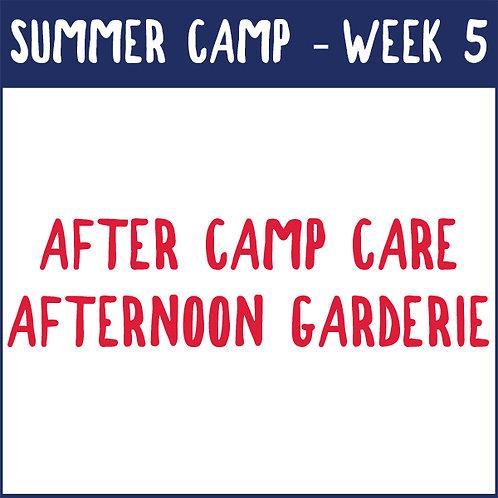 Week 5 Afternoon Garderie (July 19-23)