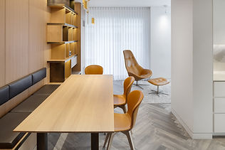 Pied-à-terre Yorkville condo renovation with oak millwork