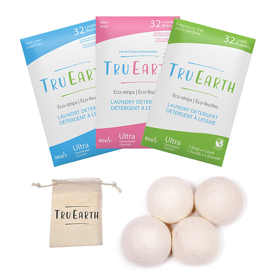 Environmentally Friendly Laundry products, Tru Earth Wool Dryer Balls & Eco-Strips Laundry Detergent