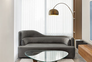 Pied-à-terre Yorkville condo lounge furniture