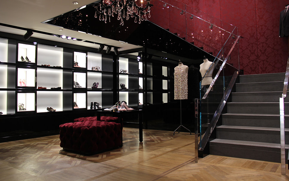 Dolce & Gabbana Toronto Flagship Store interior staircase