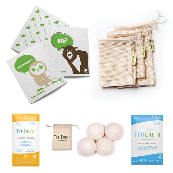 Environmental zero-waste-home care kit