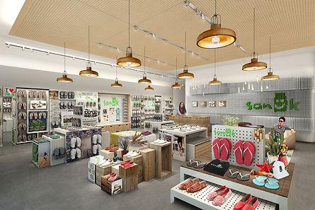 Sanuk Asia stand alone shop design