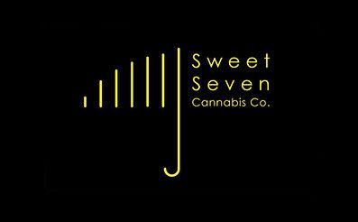 Sweet Seven Cannabis Co. yellow umbrella logo design