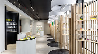 Sweet Seven Cannabis Co store design by dkstudio architects inc.