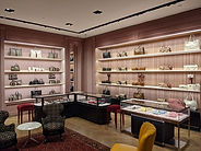 Gucci Bloor flagship store pink interior - luxury retail architecture - Toronto, Ontario