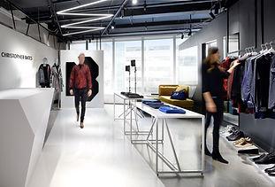 Christopher Bates Studio Runway with model