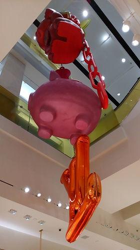 Louis Vuitton Holt Renfrew Bloor atrium art installation with Louis Vuitton logo