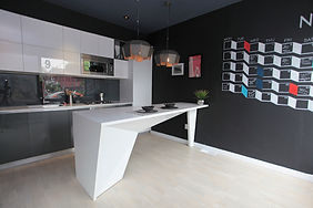 Origami Lofts showroom kitchen design - toronto, ontario, canada