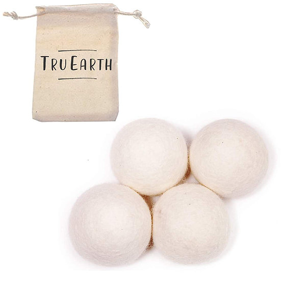 Wool Dryer Balls by Tru Earth - Reusable Fabric Softener