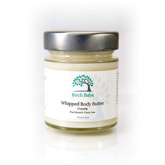 Birch Babe Naturals plant-based & plastic-free Chantilly whipped body butter for healthy skin