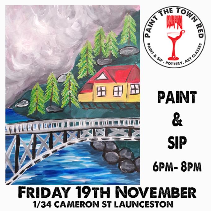 Friday 19th November Paint and Sip 6pm-8pm $45