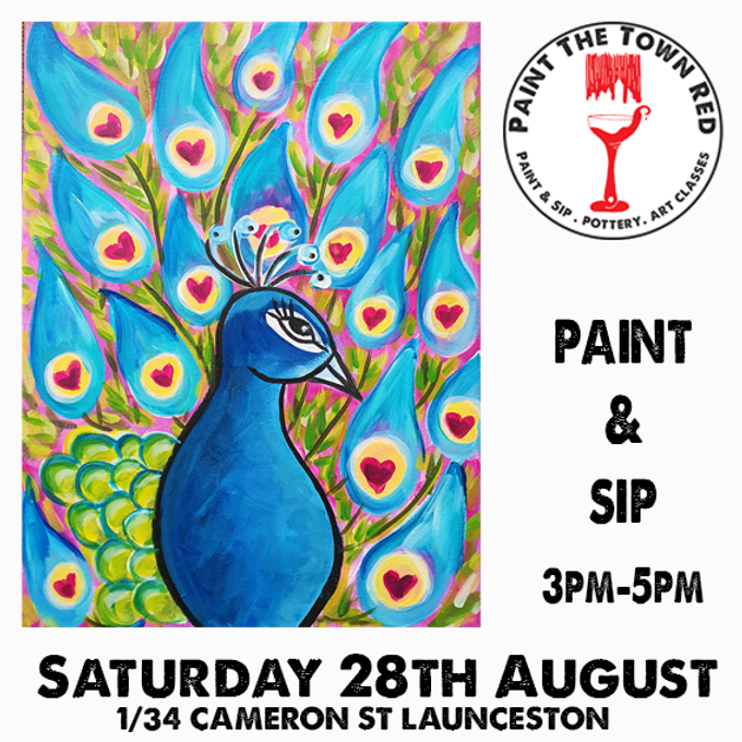 Saturday 28th August Paint and Sip 3pm-5pm $45