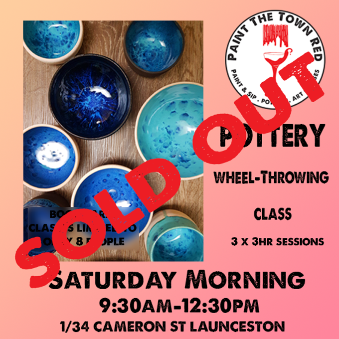 Pottery for Beginners Saturday Class - 31st July, 7th and 14th August