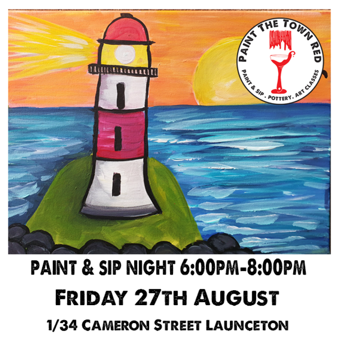 Friday 27th August Paint and Sip 6pm-8pm $45