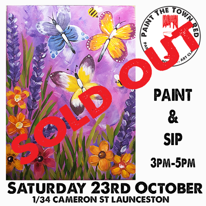 Saturday 23rd  October Paint and Sip 3pm-5pm $45