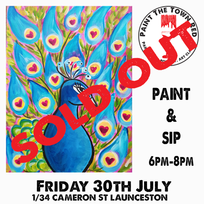 Friday 30th July Paint and Sip 6pm-8pm $45