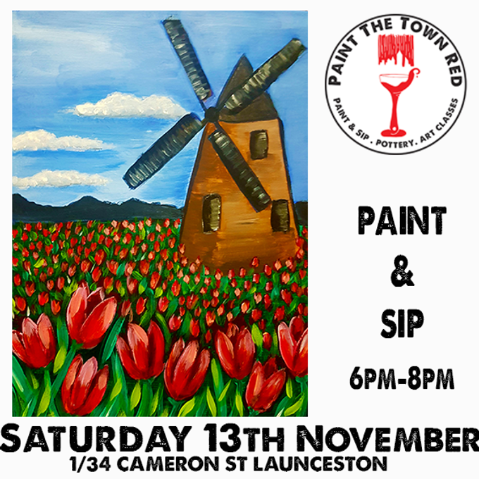 Saturday 13th November Paint and Sip 6pm-8pm $45