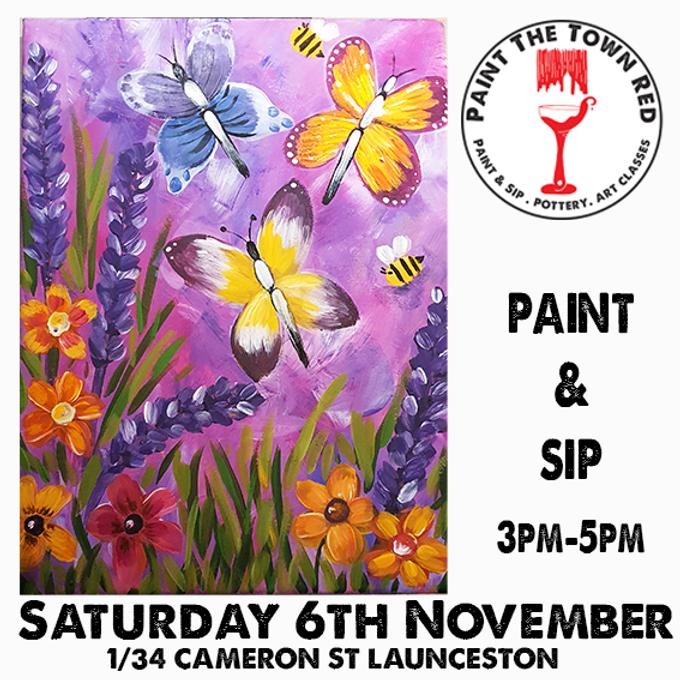 Saturday 6th  November Paint and Sip 3pm-5pm $45