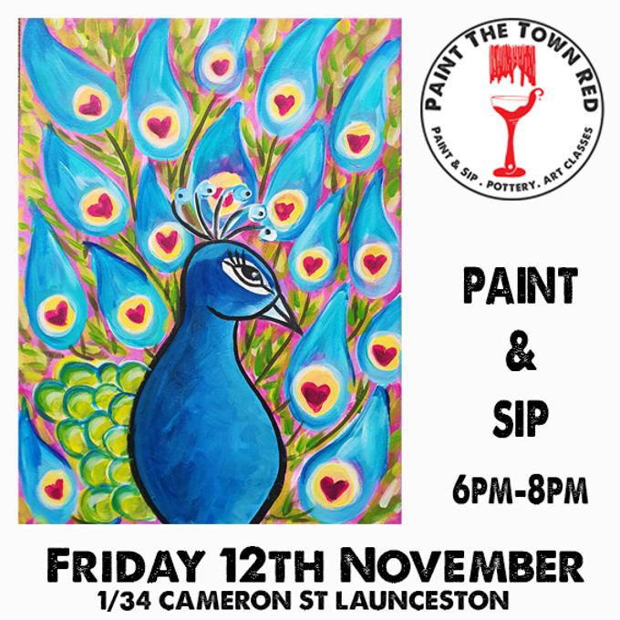 Friday 12th November Paint and Sip 6pm-8pm $45