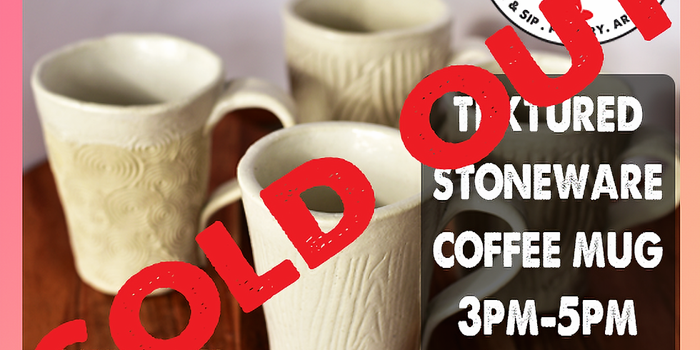 7th August Pottery - Hand Building Coffee Cup $66