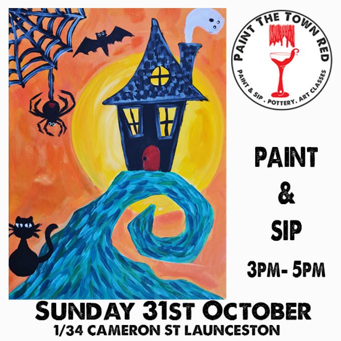 Sunday 31st October Paint and Sip 3pm-5pm $45  Halloween Family friendly