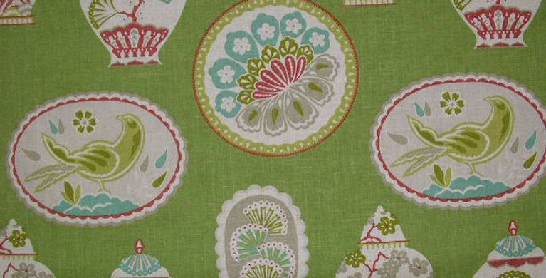 Imperial Treasure - Pink And Green Fabric