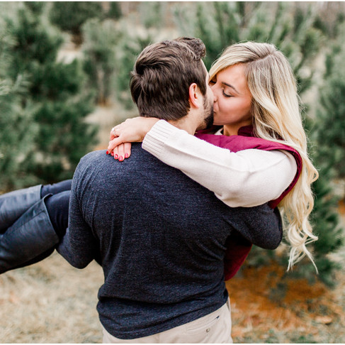 Winter Engagement Portraits // Jarrettsville Tree Farm // Baltimore Maryland Photographer