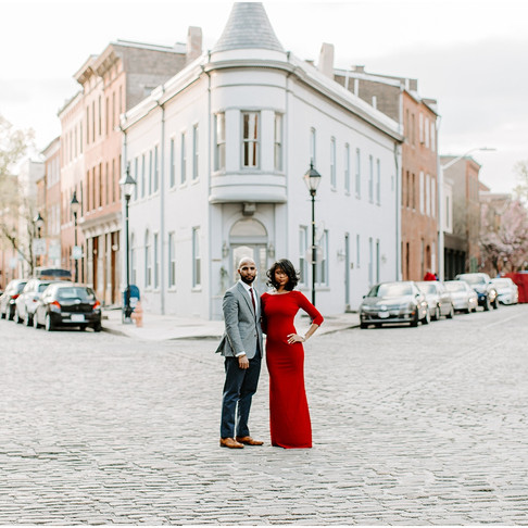 Fells Point Engagement // Janay + Carlos // Baltimore Wedding Photographer
