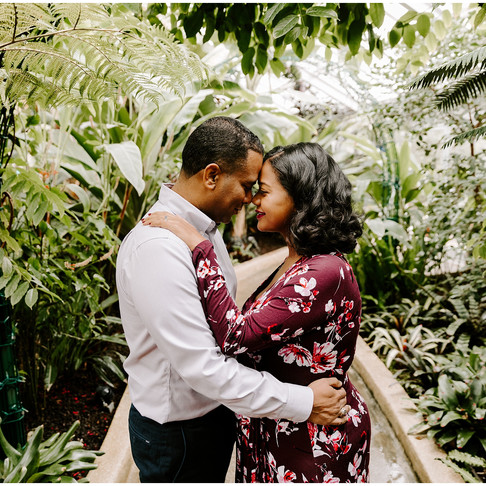Rawlings Conservatory Maternity Portraits // Deborah + Bereket // Baltimore Photographer