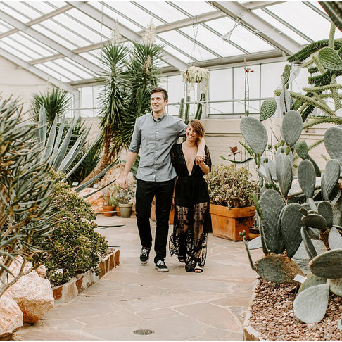 Rawlings Conservatory Engagement // Rachel + Kevin // Baltimore Maryland Photographer