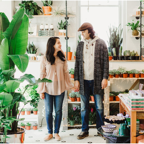 Little Leaf DC Plant Shop Engagement // Dita + Bugra // Maryland Wedding Photographer