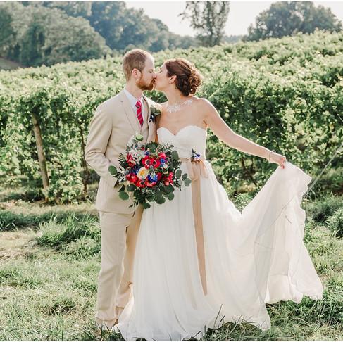 Linganore Winery Wedding // Rhea + Rich // Maryland Wedding Photographer